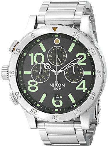 Reloj Cuarzo Nixon Para Hombre Con  Marrón  Y Plata acero inoxidable A4861956