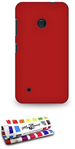 Muzzano Le Pearls resistente carcasa para Nokia Lumia 530, extra fino, compatible con Nokia Lumia 530, color Rojo