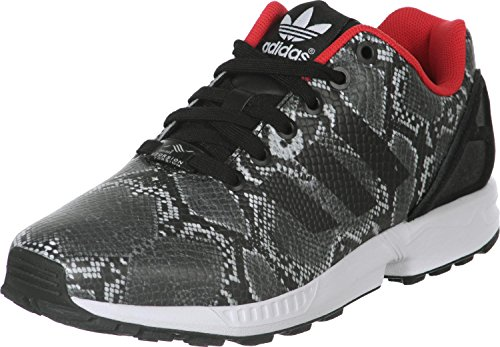 adidasZx Flux B35310 - Zapatillas de Deporte mujer, Core Black/Core Black/Tomato F15-St, 40 2/3