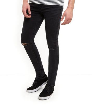 Black Ripped Knee Super Skinny Jeans