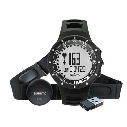 Suunto Quest Black - Reloj deportivo (Dot-matrix, 42,7 x 42,7 x 13,2 mm, 40g, Negro, Incorporado, -20 - 60 °C)