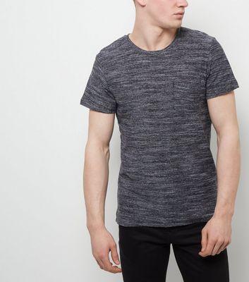 Jack and Jones Premium Black Textured T-Shirt