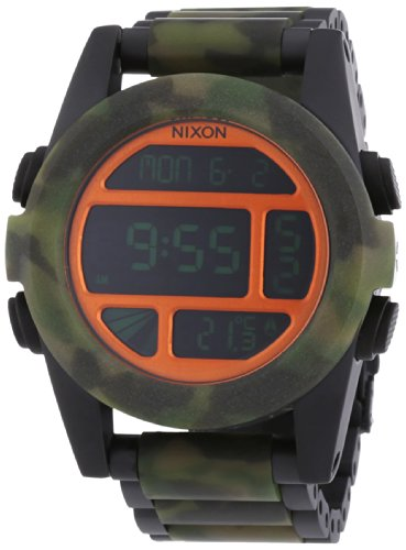 Nixon  0 - Reloj de cuarzo para hombre, con correa de acero inoxidable, color multicolor