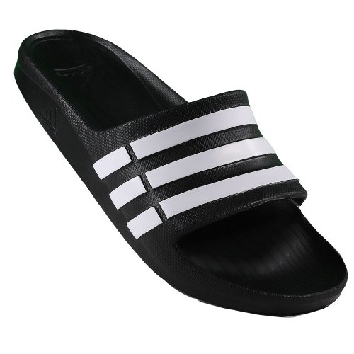 Adidas - Duramo Slide - Color: Blanco-Negro - Size: 43.3