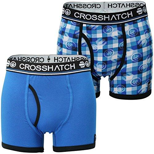 Crosshatch Men's Pack of 2 Pixflix Boxer Shorts (XL) Directoire Blue