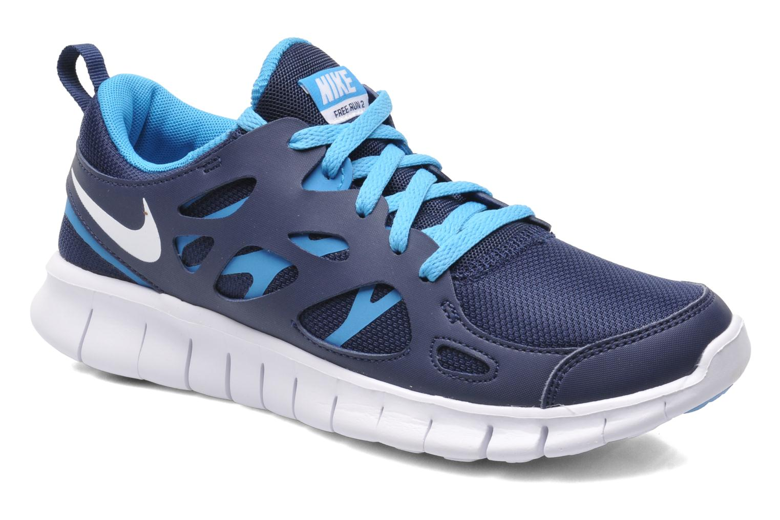 NIKE FREE RUN 2 (GS) by Nike Azul