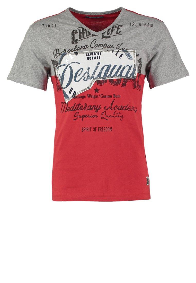 Desigual Camiseta print rojo roja