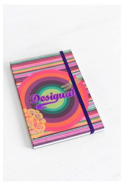 Desigual - unisex - Bloc de notas rojo formato A6 Desigual - Purple - Size U