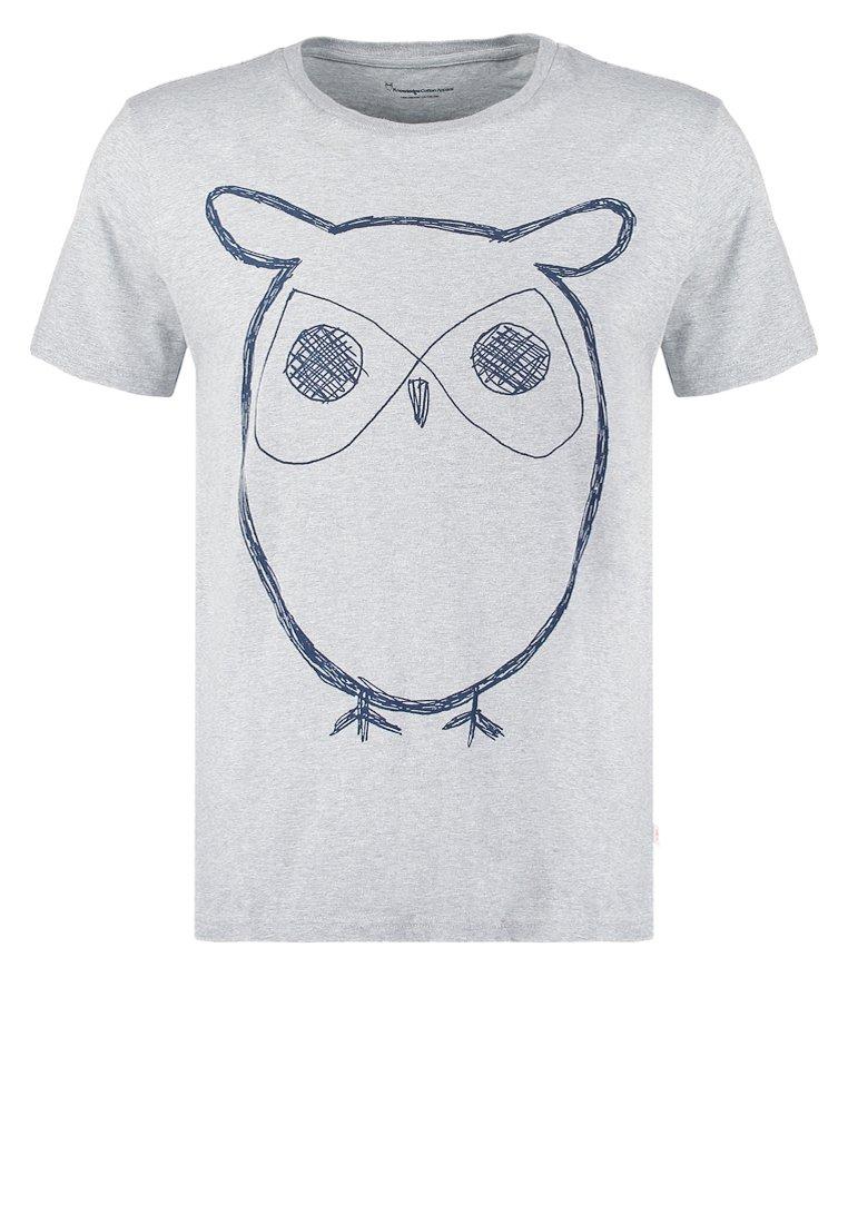 Knowledge Cotton Apparel Camiseta print grey melange