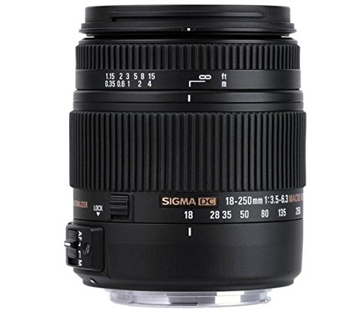18-250 mm f/3,5-6,3 Macro DC OS HSM Objetivo para Nikon