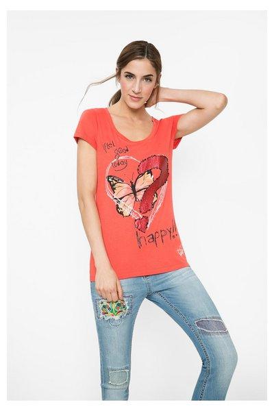 Desigual - Mujer - Camiseta de mujer con lentejuelas - Arsen - Size L