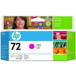 HP Cartucho de tinta magenta de 130 ml HP 72 72 Ink Cartridges, de 15 a 35 °C, 0.24 kg (0.529 libras), 202 x 40 x 129 mm