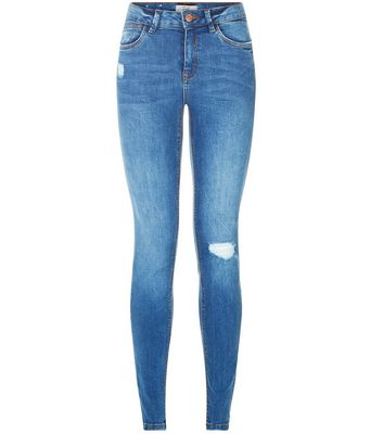 Blue Ripped Skinny Jeans