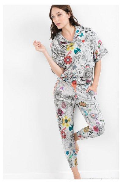 Desigual - Mujer - Pantalón tobillero de pijama - Bolimania Vigore - Size S/M