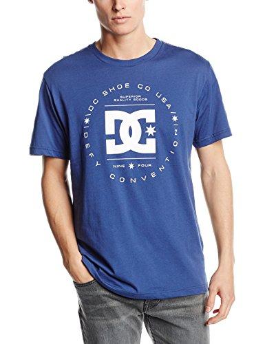 DC Shoes REBUILT SS M TEES BPY0-Camiseta Hombre    azul (Vintage Indigo) Large