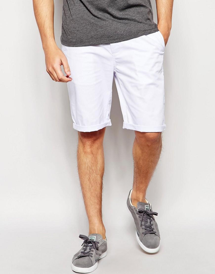 Pantalones cortos chinos en blanco de ASOS