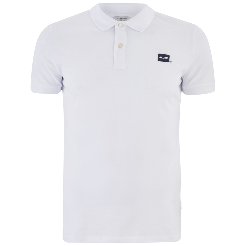 Jack & Jones Men's Core Basic Polo Shirt - White - S
