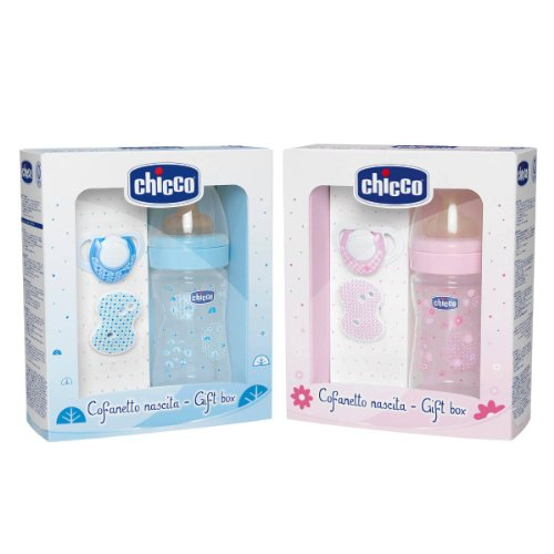 Chicco 00070730020000 - Set de regalo con tetina de caucho, 0% BPA, color azul