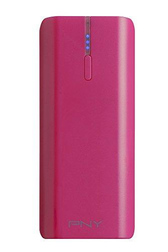 PNY PowerPack T5200 - Batería externa portátil para smartphone, recargable, 5200 mAh, color rosa