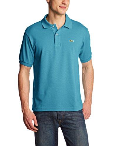Lacoste L1212-00 - Camiseta deportiva de manga corta para hombre, color turquesa (corsica aqua fwn), talla Medium (Talla del fabricante:  4)