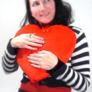 Corazón de Peluche Rojo 35 cm