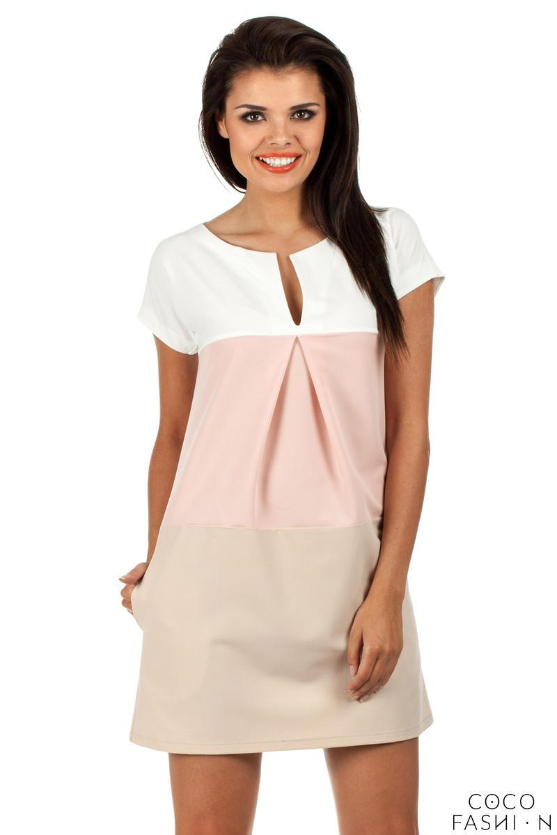 Powder Pink Modesty Casual Mini Dress
