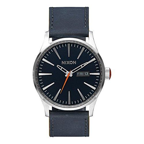 Nixon Sentry analógico de cuarzo Unisex-reloj cuero A105 - 863-00