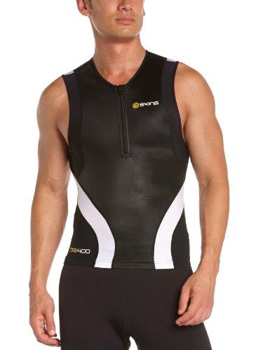 Skins - Camiseta de compresión para hombre, talla M, color negro