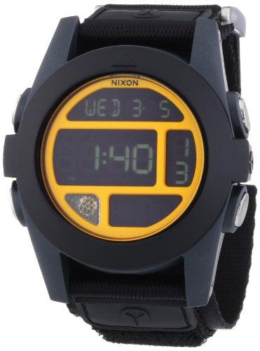 Nixon  Baja Black / Steel Blue / Neon Orange - Reloj de cuarzo para hombre, con correa de nailon, color negro