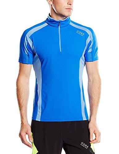 Gore Running Wear Air Zip - Camiseta para hombre, color azul, talla XL