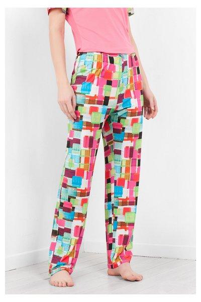 Desigual - Mujer - Pantalón de pijama fresco - Mojito Squares - Size L/XL