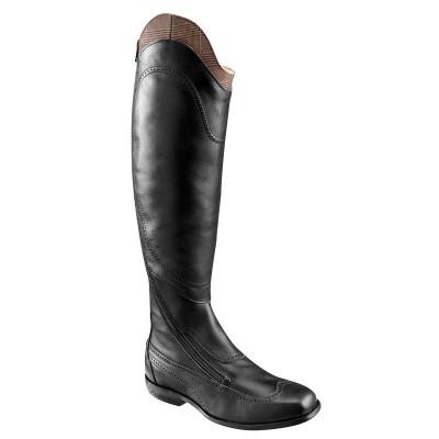 Botas de piel equitación mujer VICTORY negro - talla de pantorrilla S FOUGANZA