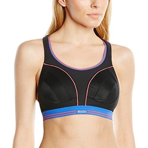 Shock Absorber Ultimate Run -  Sostén  de fitness para mujer, color Negro (Black/Neon), talla UK: Talla 30DD