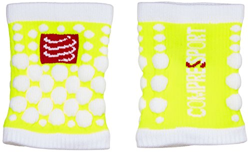 Compressport 3d Dots - Muñequera de fitness para hombre, color amarillo fluor, talla UK: Talla 5 to 6