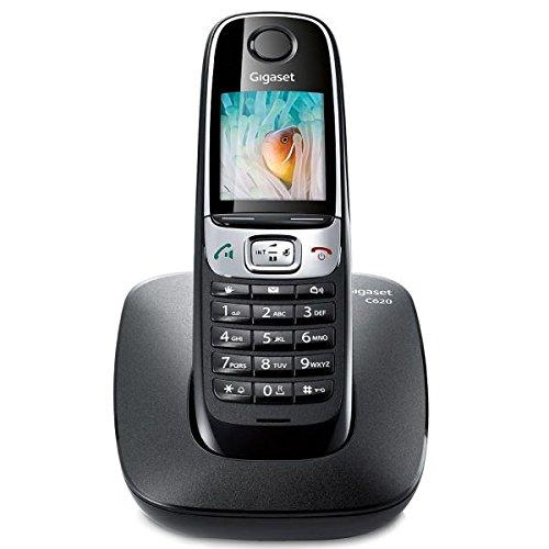 Gigaset C620 - Teléfono inalámbrico (HSP, 250 contactos, SMS) color negro