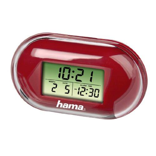 Hama AG13 - reloj despertador digital para viaje rojo