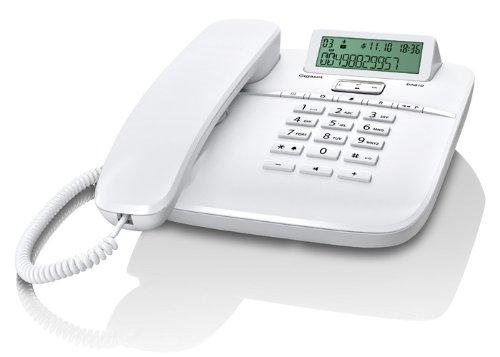 Gigaset DA610 - Teléfono con identificación de llamada y manos libres, blanco