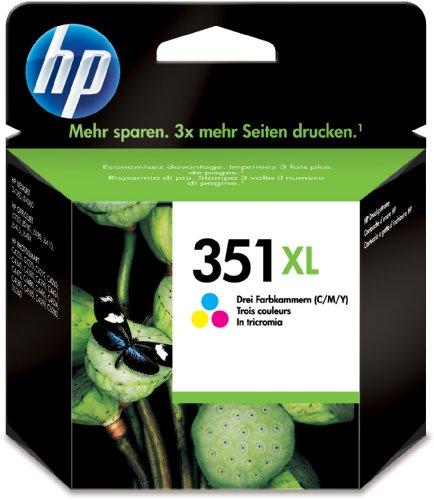 HP 351XL - Cartucho de tinta original (cian, magenta, amarillo)