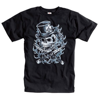 HOMBRE Rebel Highway Top Hat Skull NEGRA