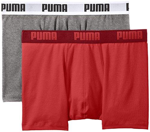 Puma Basic Boxer 2P - Calcetines para hombre, color azul, talla 23-26