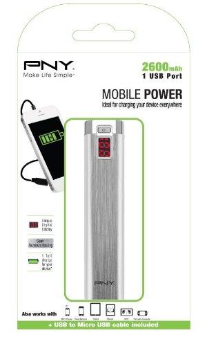 PNY P-B2600-1S02 - Batería externa, 2600 mAh