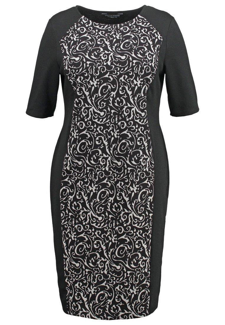 Dorothy Perkins Curve Vestido de algodón grey/black
