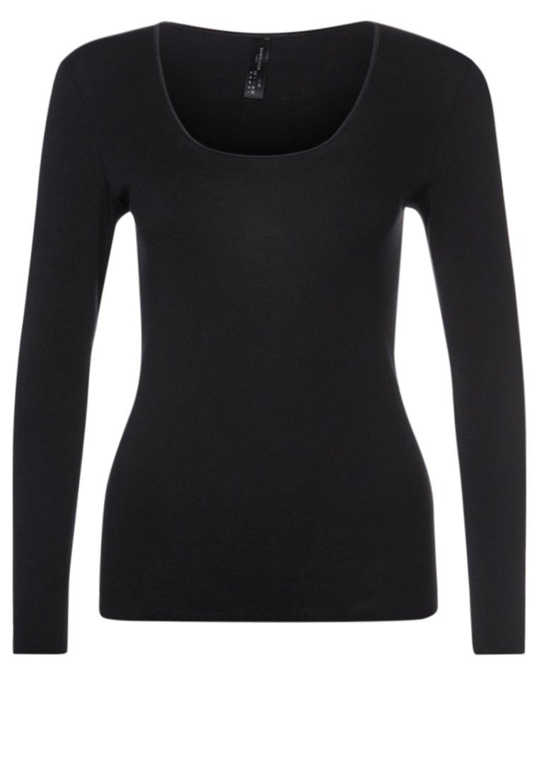 Schiesser Camiseta de pijama black
