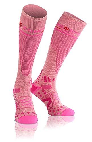 Compressport Full V2.1 - Calcetines unisex, color rosa, talla M