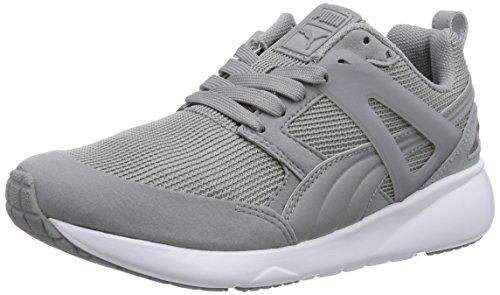 Puma Arial - zapatilla deportiva de material sintético unisex, color gris, talla 44.5