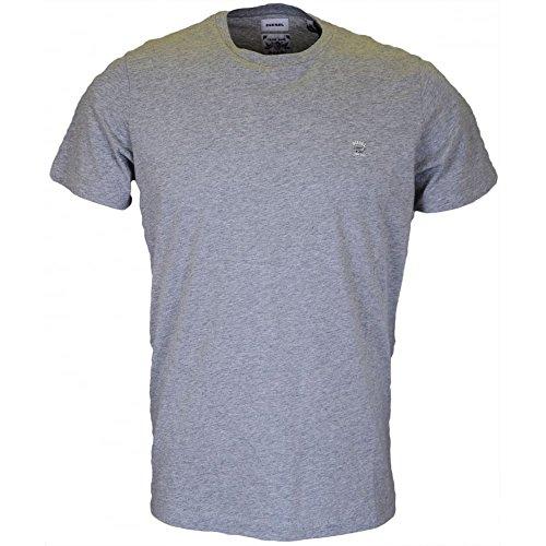 DIESEL Camiseta Manga Corta Gris Jaspeado XL