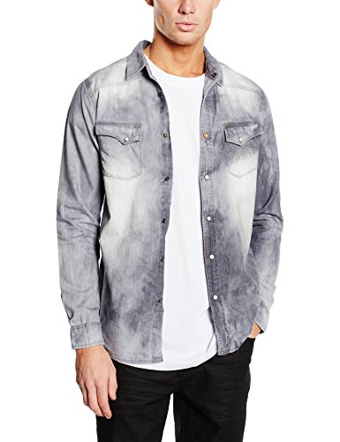 Japan Rags HROLO00000000ML-Camisa Hombre    Gris (Cloud) X-Large