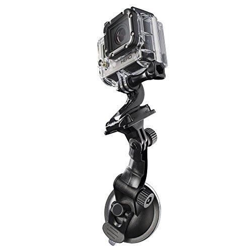 Mantona 20246 - Soporte de ventosa para GoPro Hero y GoPro Session, color negro