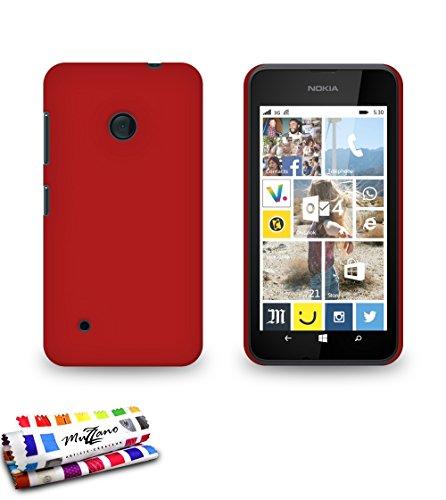 Muzzano F841031 - Funda para Nokia Lumia 530, color rojo