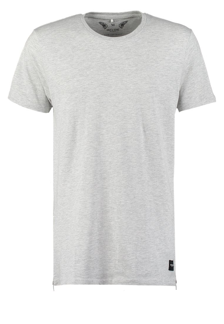 Only & Sons ONSZEKKA REGULAR FIT  Camiseta print light grey melange